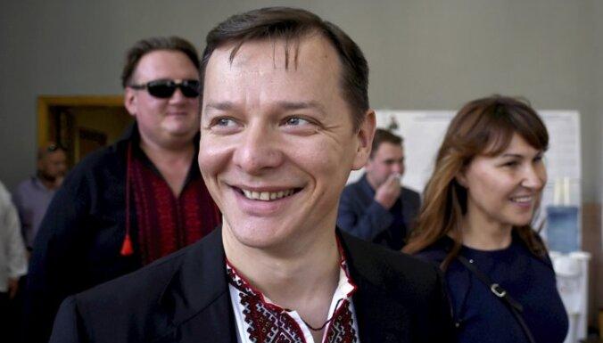 Лидера украинских радикалов облили зеленкой во Львове