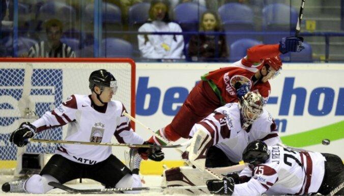 Хоккеисты Латвии уступили первый спарринг белорусам