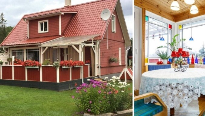 Lauku mājas etalons: košiem akcentiem bagātais namiņš Igaunijā