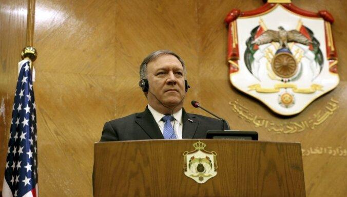 Izraēlas un palestīniešu konflikta atrisinājums ir ASV prioritāte, apliecina Pompeo