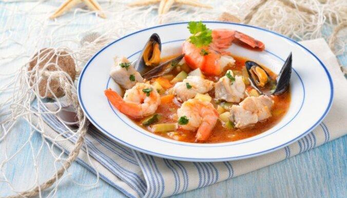 Bujabēze - karaliska jūras velšu zupa franču gaumē