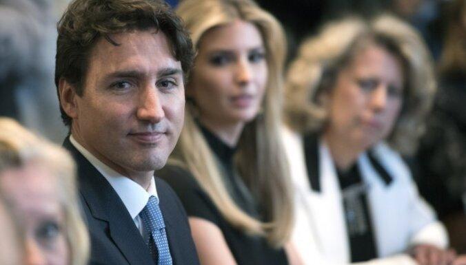 Foto: Daiļā Trampa meita satiek pievilcīgo Kanādas premjerministru