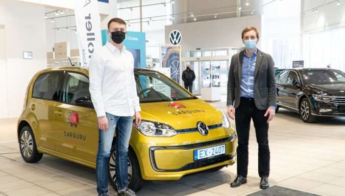 Ilgi gaidītais 'Volkswagen e-up!' ir pieejams 'Carguru' lietotājiem