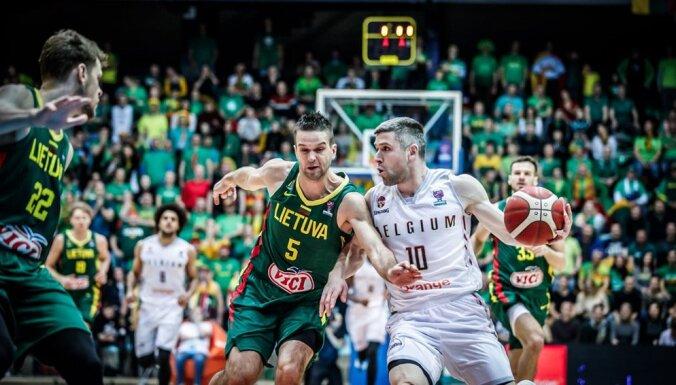Lietuvas basketbolisti saņem pamatīgu 'pērienu' Beļģijā