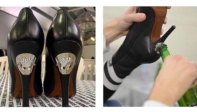 ФОТО. Грузинский дизайнер встроил в туфли открывашку для бутылок