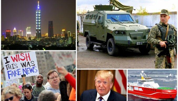 Nedēļa pasaulē: Tramps melo, ukraiņi karo un Krieviju satrauc viltus ziņas