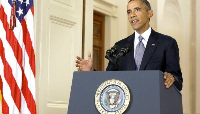 Obama atkal zvana Putinam; aicina panākt diplomātisku risinājumu Ukrainas krīzei
