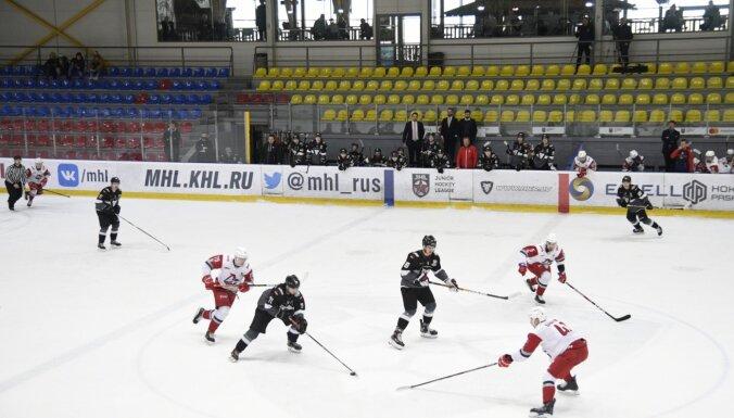 'Rīgas' hokejisti tukšā Piņķu hallē izkrīt no MHL izslēgšanas spēlēm