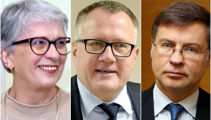 'Jaunās Vienotības' EP vēlēšanu saraksta līderi būs Dombrovskis, Kalniete un Ašeradens