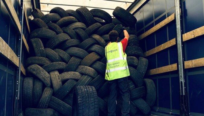 Latvijas iedzīvotāji mēneša laikā nodevuši 76 tonnas veco riepu