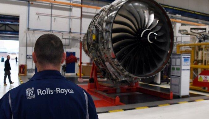 'Rolls-Royce' pērno gadu noslēdzis ar rekordlieliem 5,4 miljardu eiro zaudējumiem