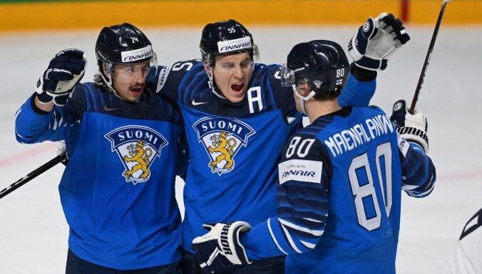 Somijas hokeja izlase PČ ievadā notur pārsvaru pār ASV