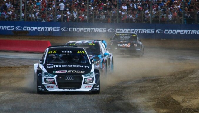 Baumanis un Nitišs 'World RX' Francijas posmā pēc pirmajām kvalifikācijām ir pusfināla pozīcijās