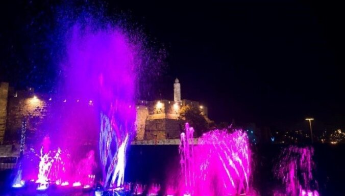 'Staro Rīga' objekts ar ovācijām uzņemts Jeruzalemes gaismas festivālā