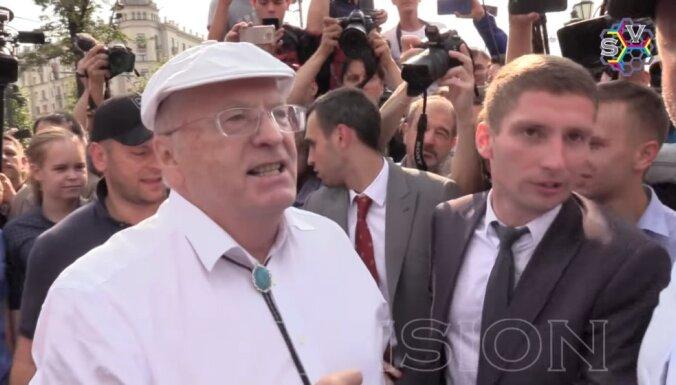 ВИДЕО: Жириновский принял участие в потасовке на митинге против пенсионной реформы