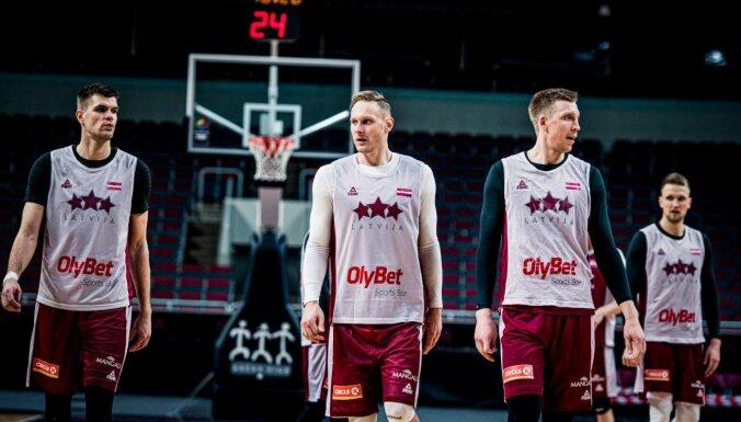 Latvijas basketbolisti lūko nodrošināt ceļazīmi uz Eiropas čempionātu