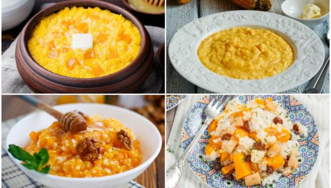 Ar rīsiem, grūbām, prosu un mannu: 7 ķirbju putras vienkāršām maltītēm