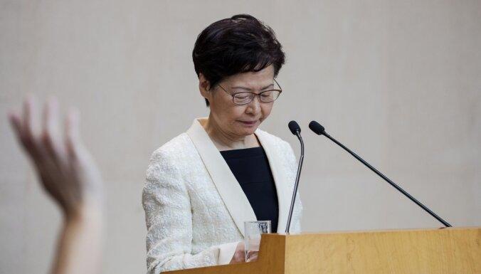 Jaunais drošības likums neietekmēs Honkongas brīvību, apgalvo teritorijas vadītāja