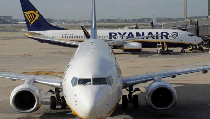 No 25. marta 'Ryanair' apturēs gandrīz visus lidojumus Eiropā