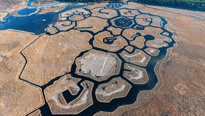 Foto: Brīnišķais Engures ezera musturs no putna lidojuma