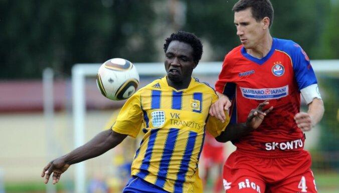 'Ventspils' futbolisti izbraukumā pieveic čempionvienību 'Skonto'