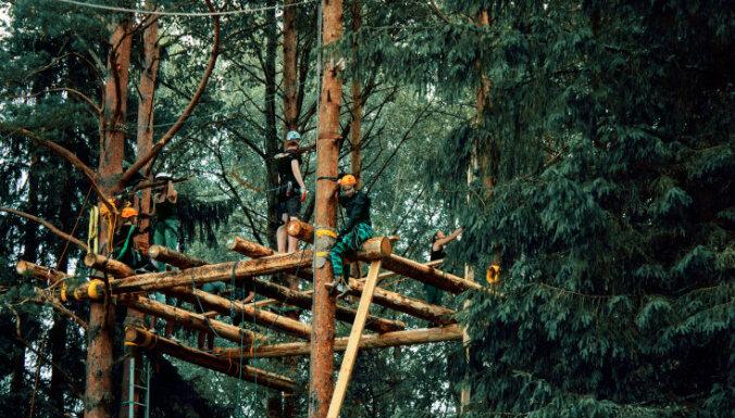 Jūlijā Strenčos notiks meistarklase māju būvniecībai kokos
