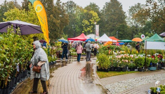 Foto: Augu 'medības' un košumi grandiozajā Latvijas Stādu parādē