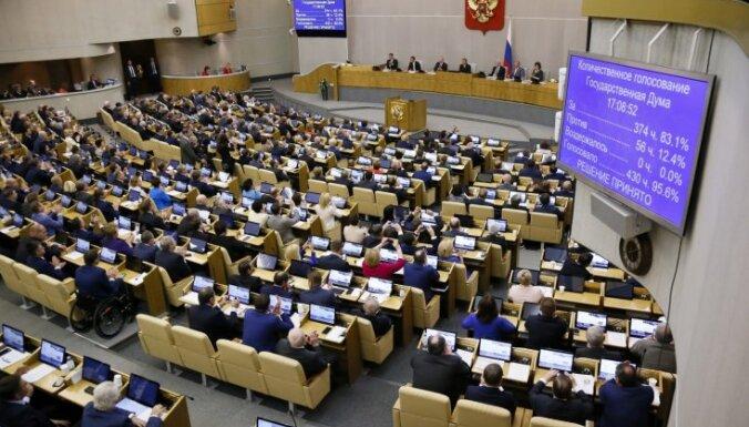 Krievijas parlaments atbalsta 'ārvalstu aģentu' loka paplašināšanu