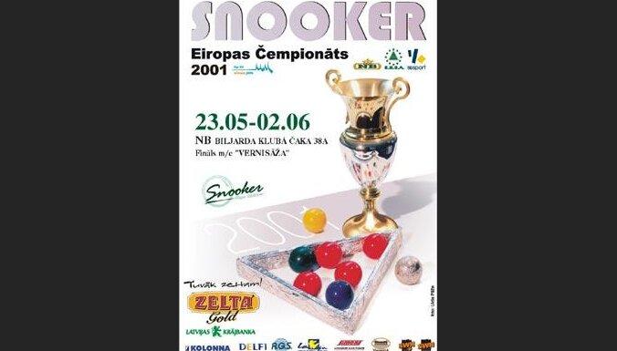 Snūkera čempionāta plakāts