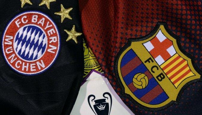 'Bayern' un 'Barcelona' duelis ieskandina UEFA Čempionu līgas pusfināla cīņas
