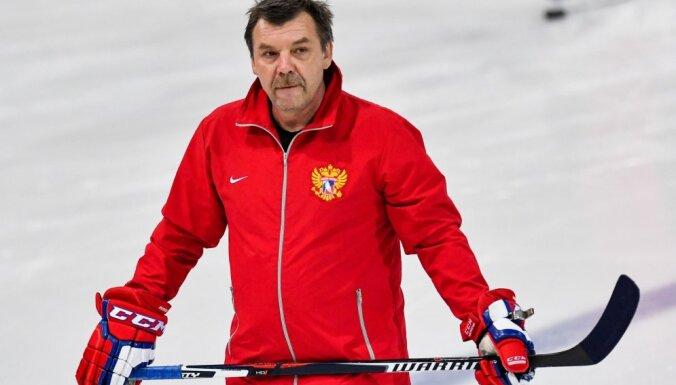 The Russian hockey team head coach Oleg Znarok
