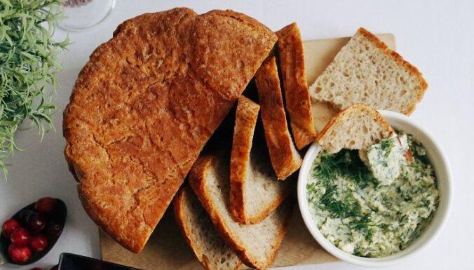Gardā svētku maize ar diļļu-ķiploku sviestu