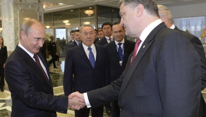 Песков рассказал о тайных встречах Путина и Порошенко