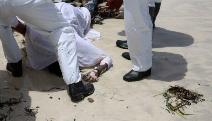 Pie Lībijas krastiem izskaloti 104 Vidusjūrā noslīkušu migrantu līķi