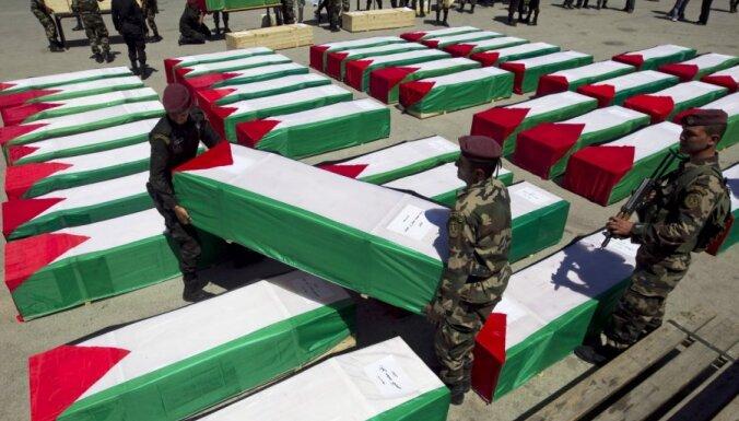 Izraēla Palestīnas pašpārvaldei atdod vairāk nekā 90 palestīniešu mirstīgās atliekas