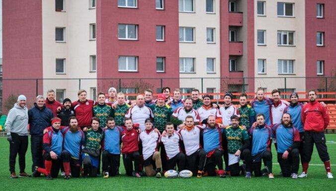 Latvijas regbija izlases jaunais galvenais treneris interesentiem aizvadījis pirmo treniņu
