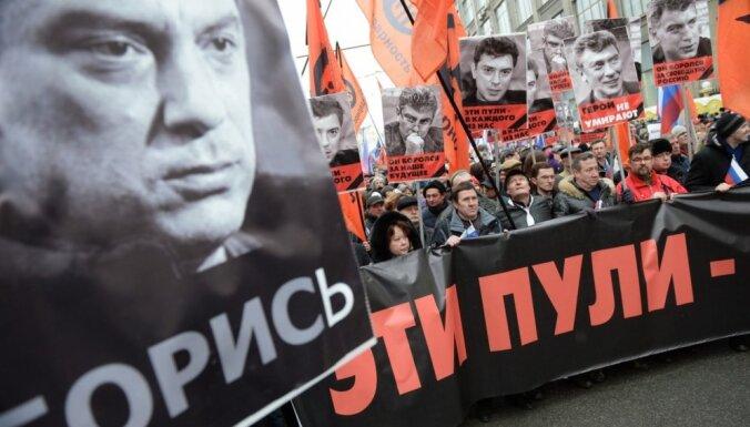 Maskavas tiesā sākas process Ņemcova slepkavības lietā