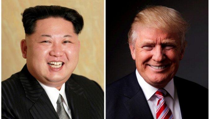 Tramps paziņo, ka viņš runātu ar Ziemeļkorejas vadītāju Kimu