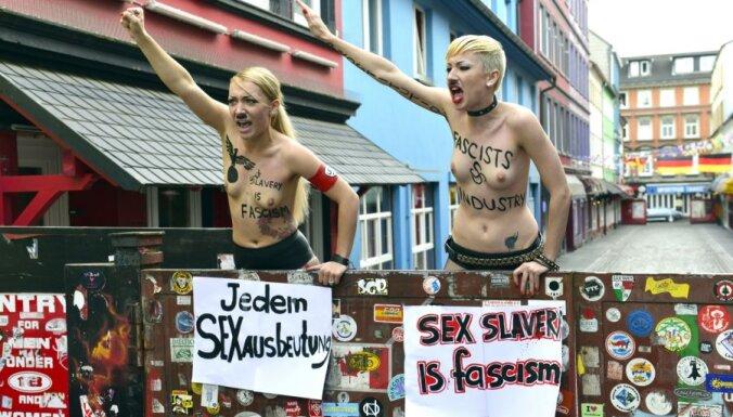 Ukrainas TV kanāls: 'Femen' aktīvistēm maksā 1000 dolāru mēnesī