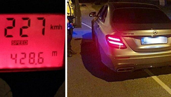 ФОТО. Водитель из Латвии гонял по Таллину со скоростью 227 км/ч