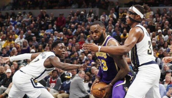 'Pacers' sarūpē Lebronam Džeimsam karjeras smagāko zaudējumu