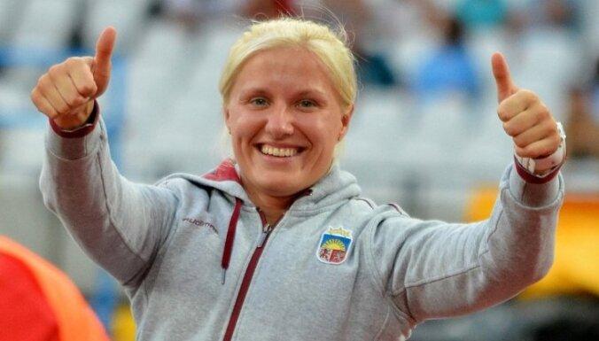 Dadzīte izcīna Eiropas čempiones titulu arī lodes grūšanā