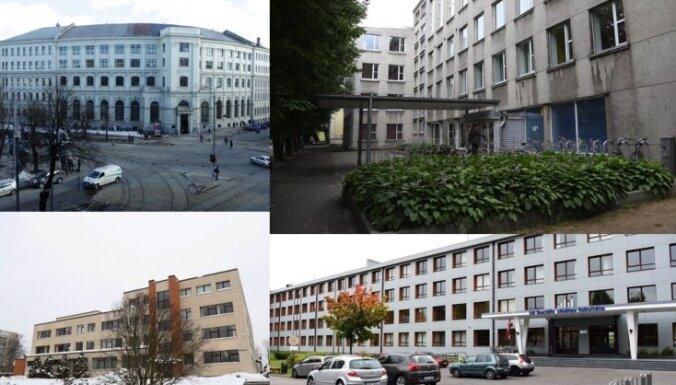 Fakultāšu ēkas, RPIVA un garāža – LU pārdos īpašumus