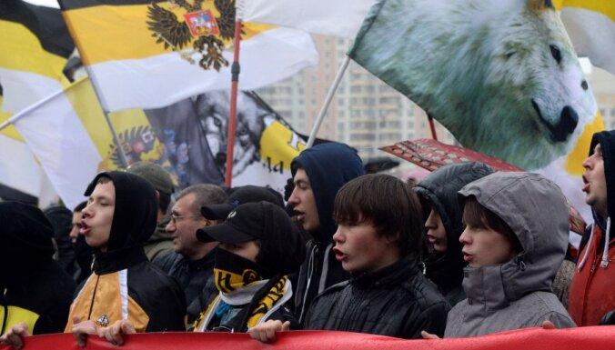 """В Москве """"Русский марш"""" собрал 8000 националистов"""