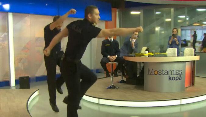 Video: Policijas koledžas kadeti LNT tiešraidē pārsteidz ar deju