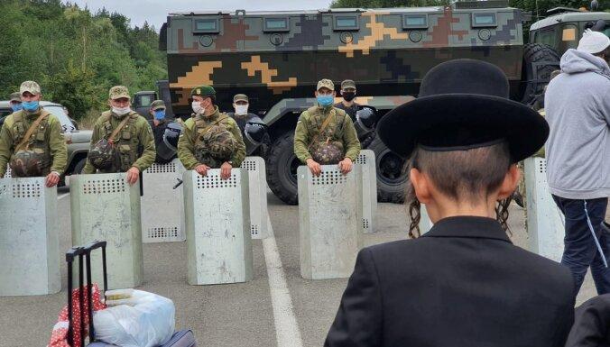 ФОТО. Украина просит Беларусь не пропускать остающихся на границе хасидов