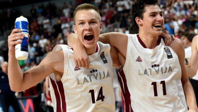 Svētdien Latvijas U-18 izlasei izšķirošā cīņa par Eiropas čempionu titulu