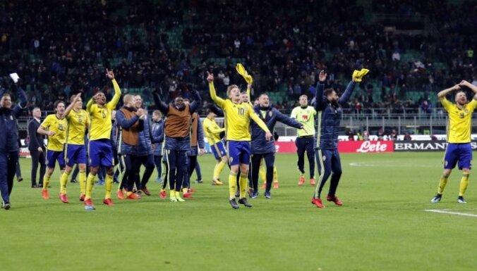 Itālijas futbola izlase pirmo reizi kopš 1958.gada nekvalificējas PK finālturnīram, kurā iekļūst Zviedrija