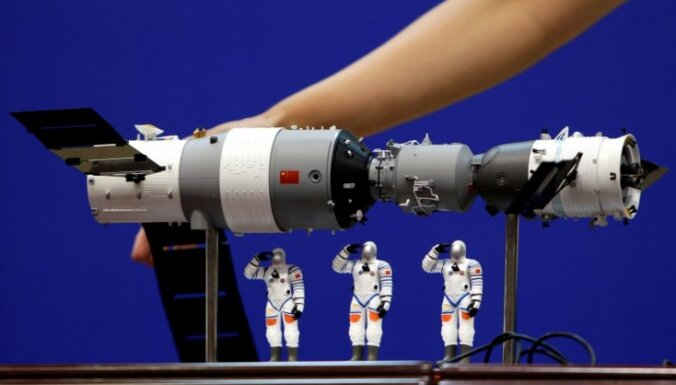 Ķīnas orbitālās kosmosa laboratorijas atlūzas nokritušas Klusajā okeānā