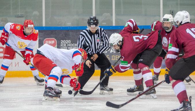 Latvijas U-17 un U-20 hokeja izlasēm zaudējumi pārbaudes turnīros